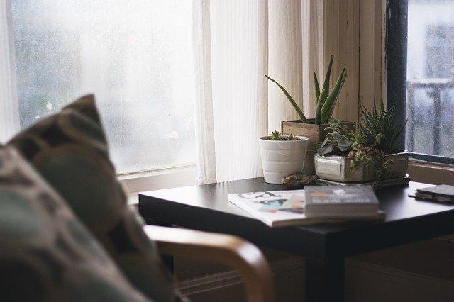 maison, fenêtre, siège