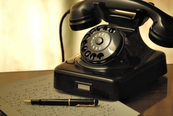Vieux téléphone par Pixabay