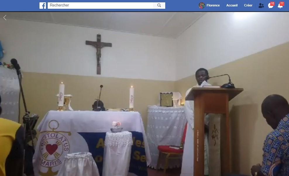 Côte d'Ivoire : L'Apostolat de la mer et des migrants & Covid-19 messe en vidéo Facebook