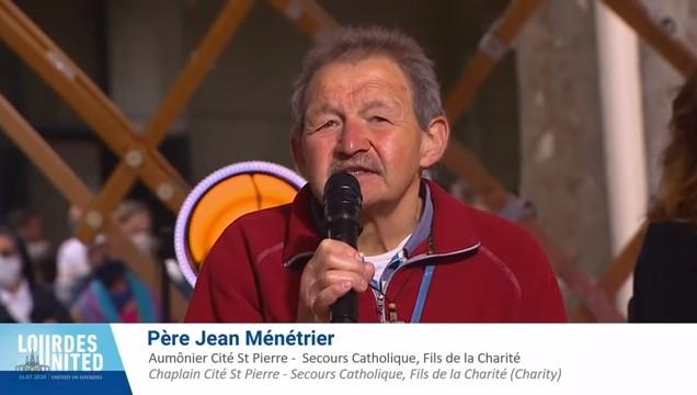 """""""Lourdes United"""" – Émission spéciale – Premier e-pèlerinage mondial le 16 juillet 2020, par les Sanctuaires de Lourdes, intervention de Jean Ménétrier Fils de la Charité et Aumônier à la Cité saint-Pierre"""