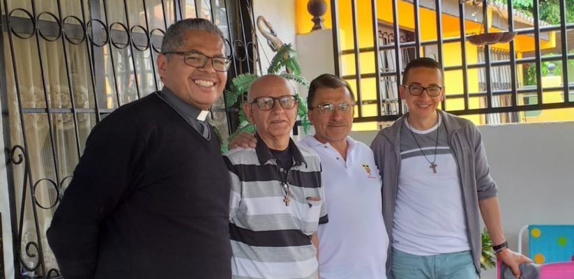 Début 2020, Bogotá, Jailson dos Santos, Martirian Marban, Pedro Salinas, Pedro Baron © Fils de la Charité