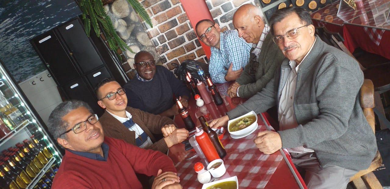 Jayson dos Santos, Pedro Baron, Emmanuel Say, Antonio Cano, Martirian Marban, Pedro Salinas - décembre 2019 © Fils de la Charité