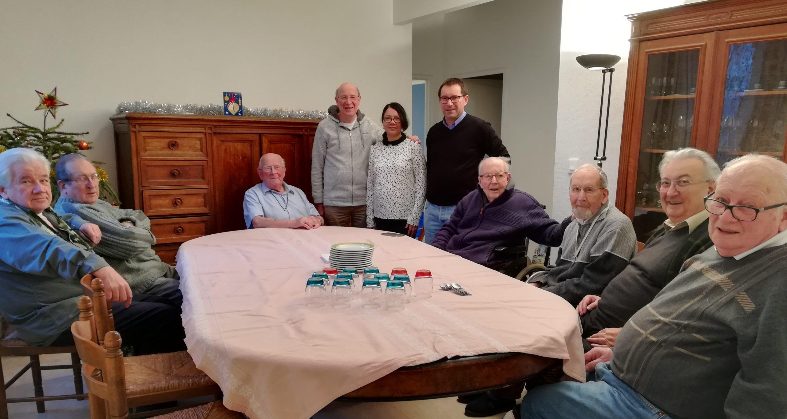 La communauté Saint-Joseph visite le nouveau généralat janvier 2018 © Florence Krasowski